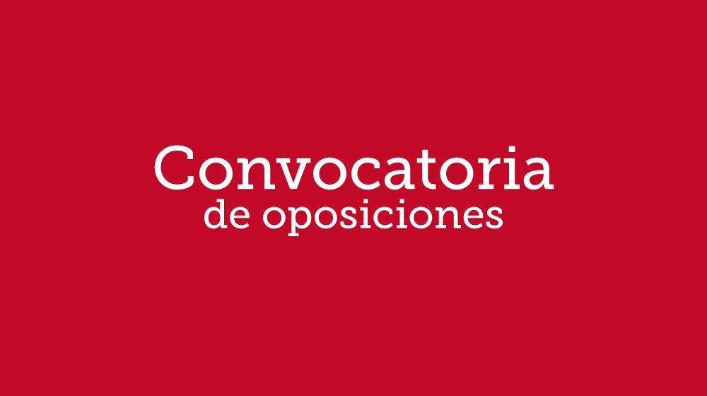 Convocatoria de oposiciones